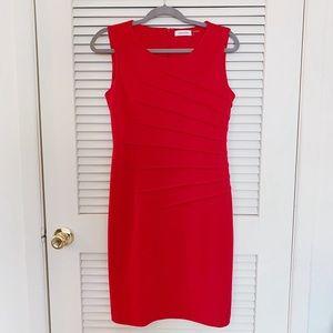 CALVIN KLEIN 🌸 EUC 🌸 Sleeveless Red Dress